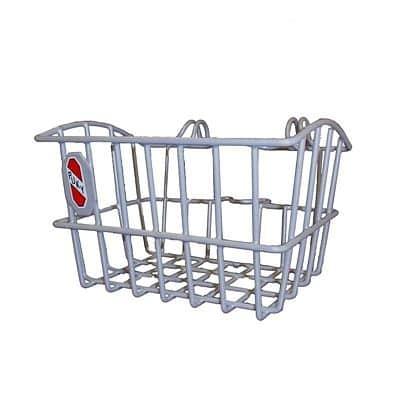 Predný košík na kolobežky strieborný