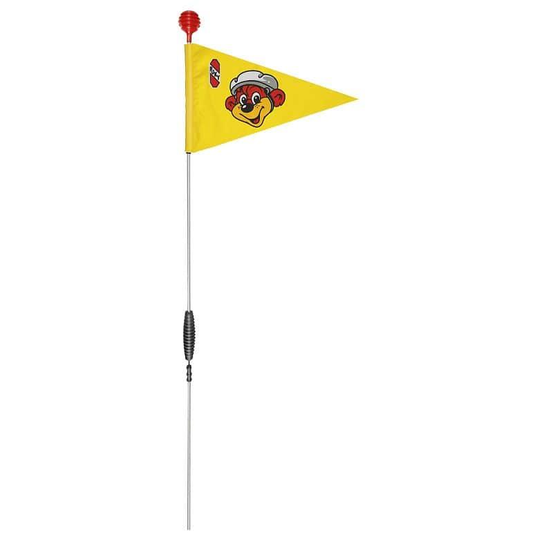 Bezpečnostní vlajka na koloběžky a kola PUKY růžová