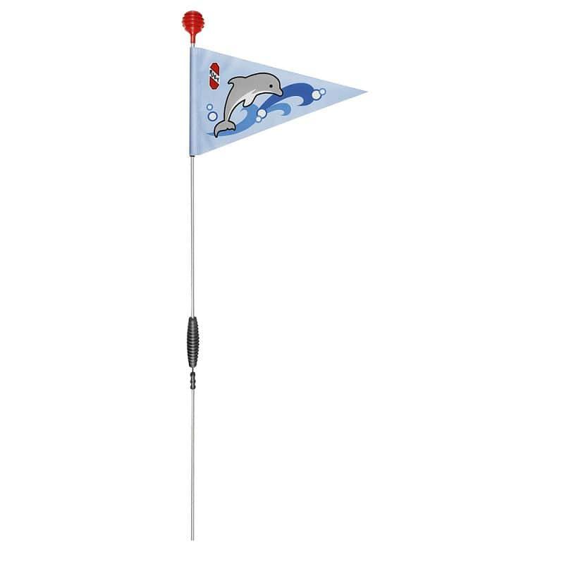 Bezpečnostní vlajka na koloběžky a kola PUKY oceánská modrá