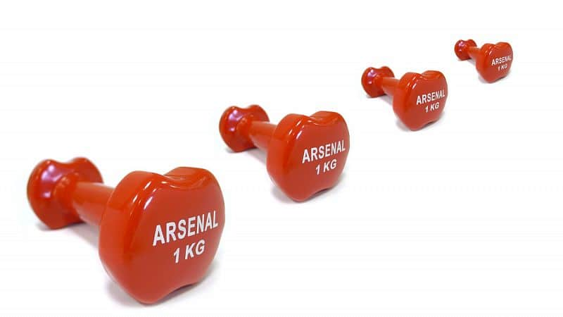 Činka na aerobic ARSENAL 1 kg - červená/vinyl