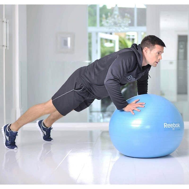 Gymnastický míč REEBOK 55cm - Two TONE - žluto-růžová
