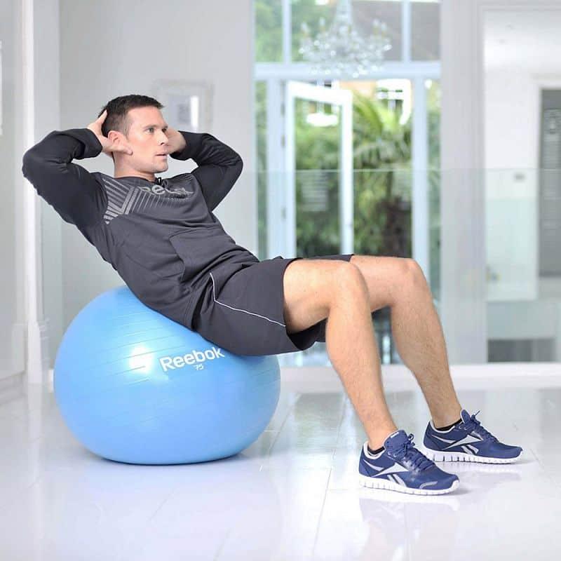 Gymnastický míč REEBOK 65cm - Two TONE - žluto-modrý