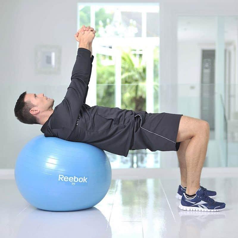 Gymnastický míč REEBOK 65cm - Two TONE - žluto-růžový