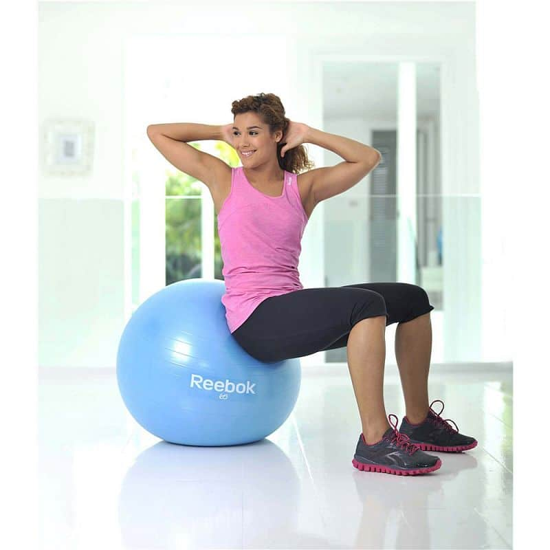 Gymnastický míč REEBOK 75cm - Two TONE - žluto-modrý