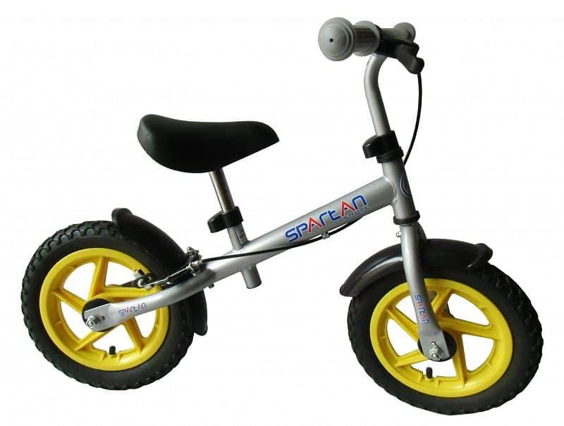 Dětské odrážedlo - kolo SPARTAN Training Bike - stříbrné