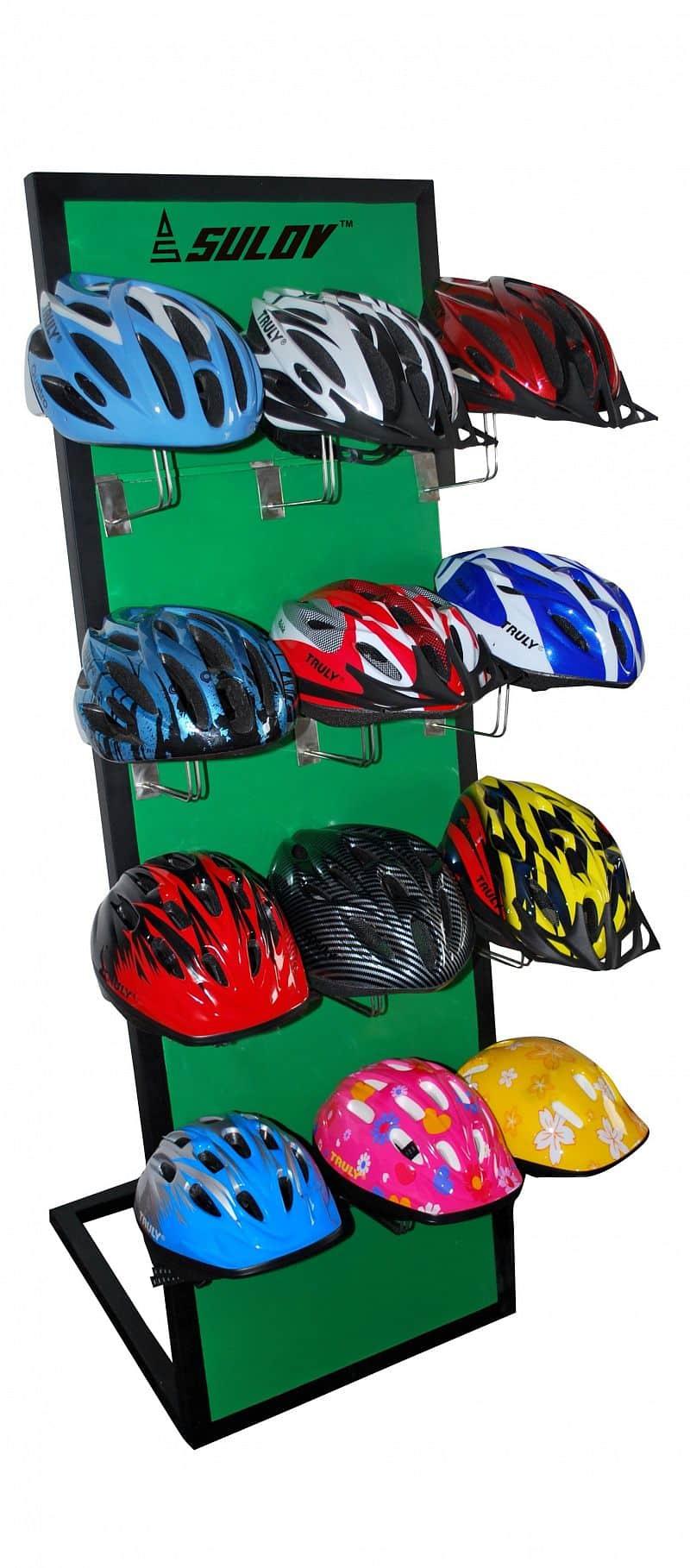 Stojan na helmy - zelený