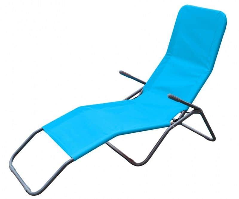 Plážové skládací léhátko RELAX, modré