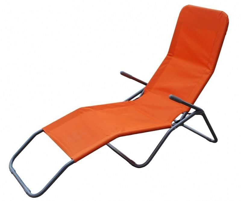 Plážové skládací léhátko RELAX, oranžové