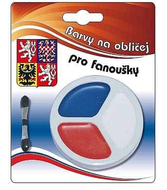 Barvy na obličej ČR 3