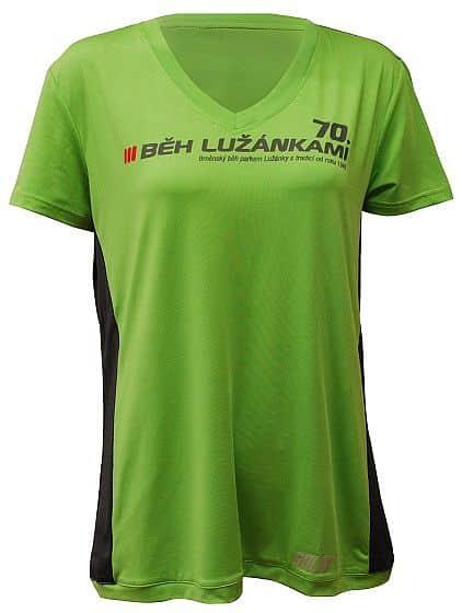Dámské běžecké triko SULOV LIMITED EDITION 70. BĚH LUŽÁNKAMI, zelené