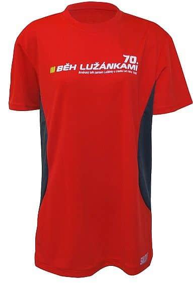 Pánské běžecké triko SULOV LIMITED EDITION 70. BĚH LUŽÁNKAMI, červené