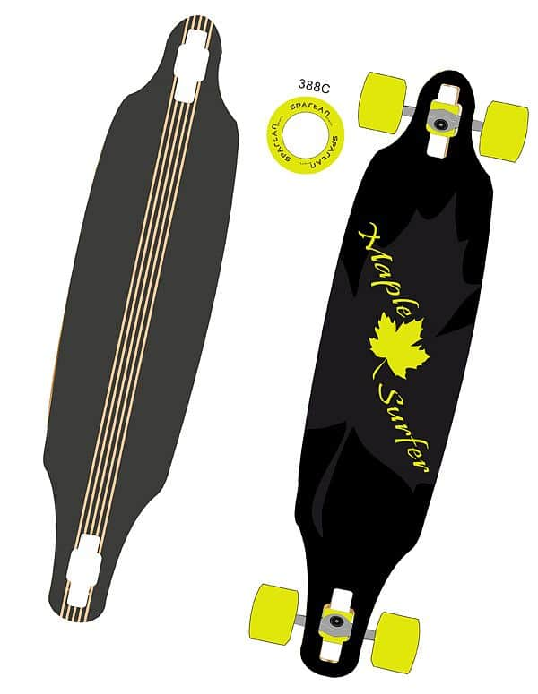 Skateboard LONGBOARD MAPLE SURF
