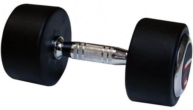 Profi pogumovaná jednoruční činka inSPORTline 17,5 kg