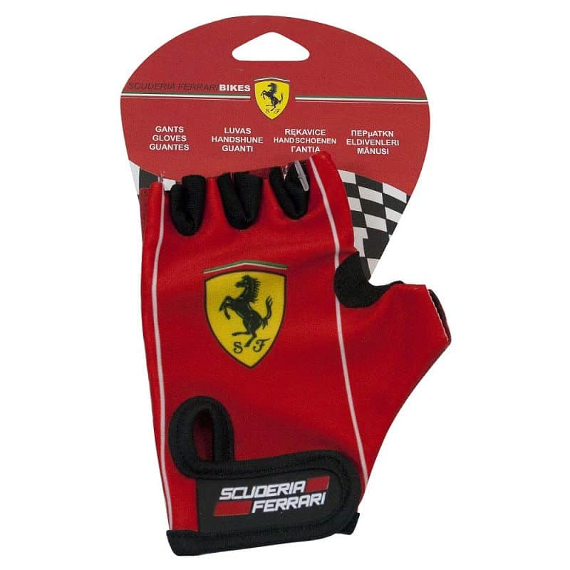 Dětské cyklo rukavice Ferrari