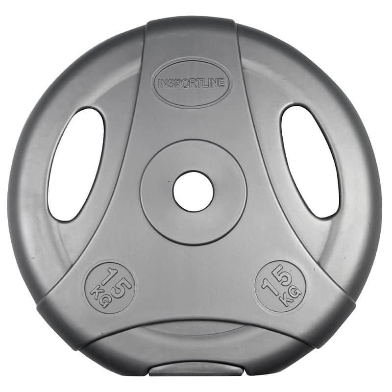 Cementový kotúč inSPORTline Ergo 15 kg šedý