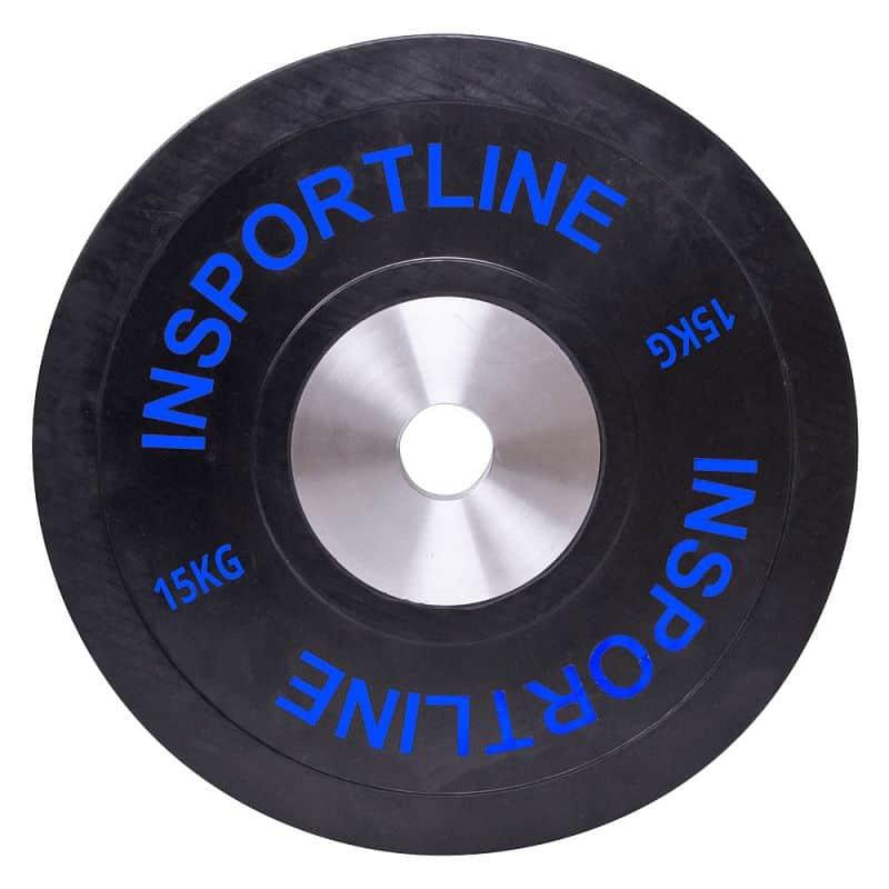 Sada gumových kotoučů inSPORTline Bumper Plate 2x 5-25 kg