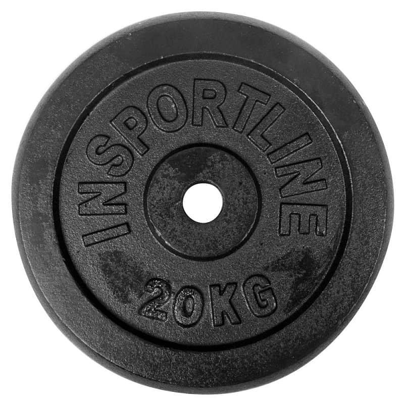 Sada ocelových kotoučů inSPORTline 2x 0,5-20 kg