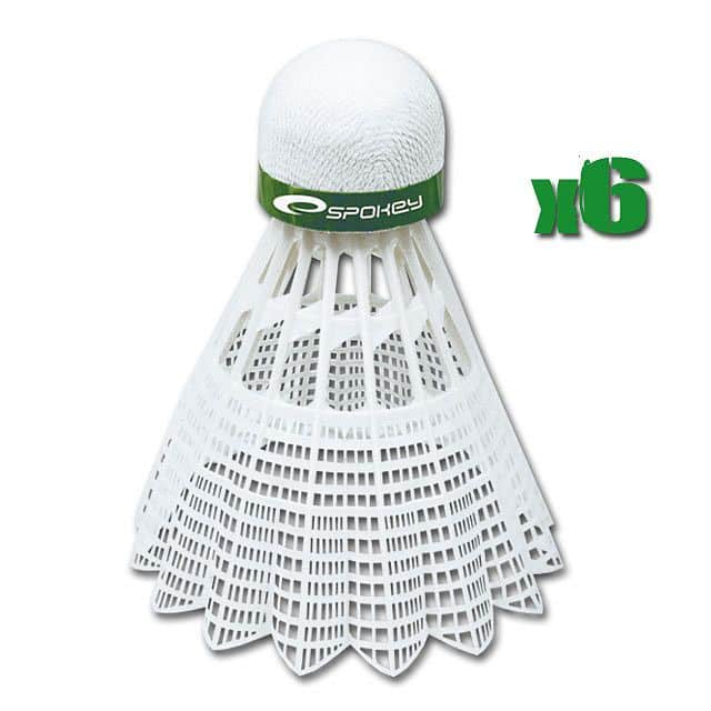 SHOOT GREEN-Badmintonové míčky 6ks nylonové