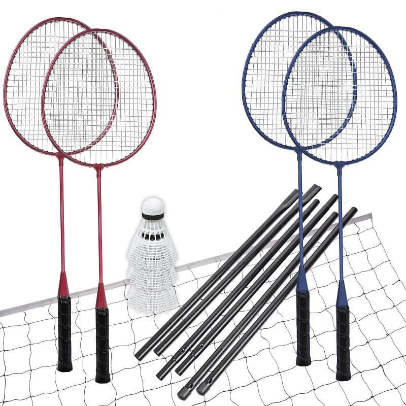 FUN START-Sada na badminton, 4 rakety,síť+rám,míčky