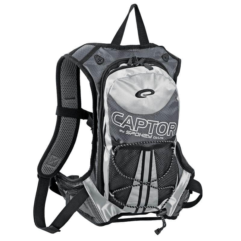 CAPTOR - Cyklistický a běžecký batoh šedý/stříbrný 2l, voděodolný