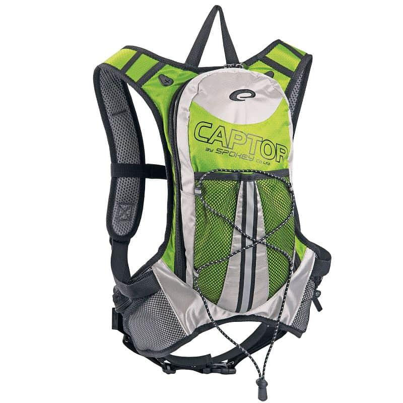 CAPTOR - Cyklistický a běžecký batoh zelený 2l, voděodolný