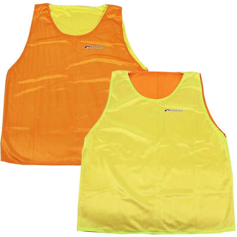 SHINY Vesta žlutá/oranžová oboustranná