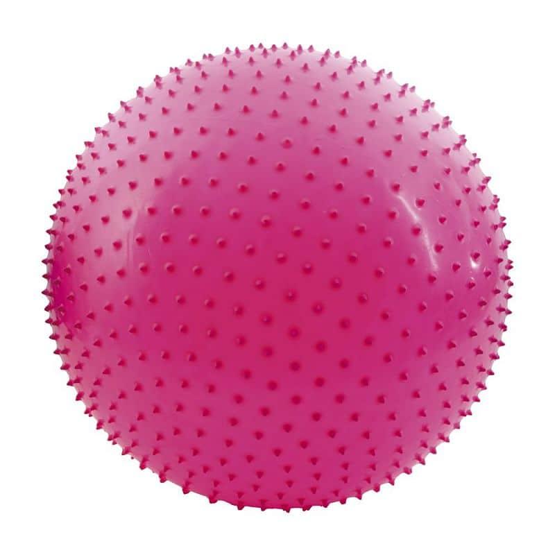 SAGGIO FIT- Gymnastický míč  65cm včetně pumpičky, masážní výběžky, růžový