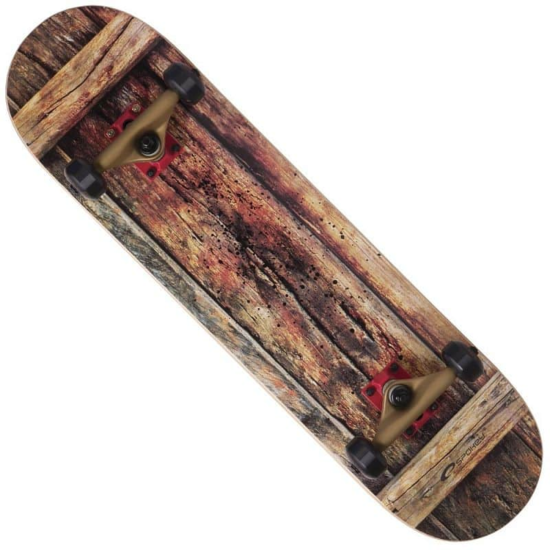 WOODSKATE Skateboard 79 x 19 cm, ABEC 7 2RS