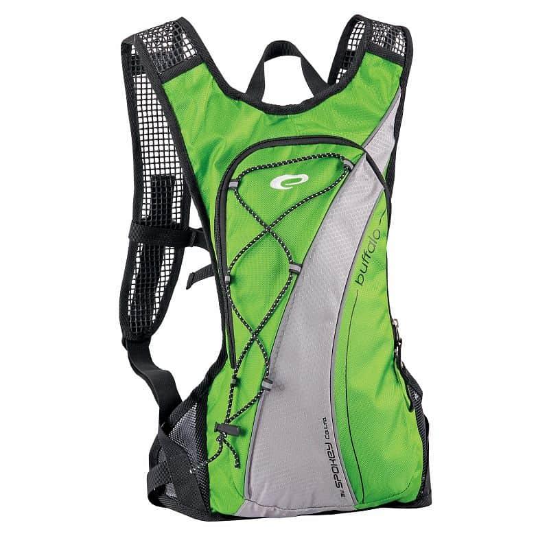 BUFFALO Cyklistický a běžecký batoh zelený 2l, voděodolný