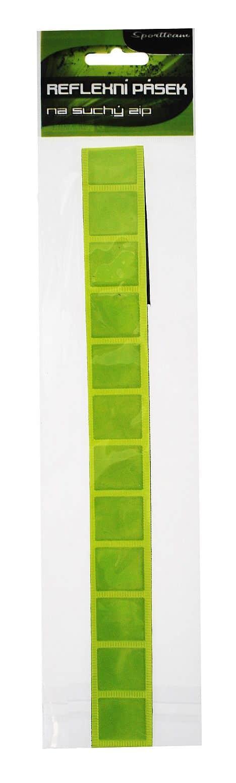 Reflexní pásek SPORTTEAM 3x38 cm  na suchý zip