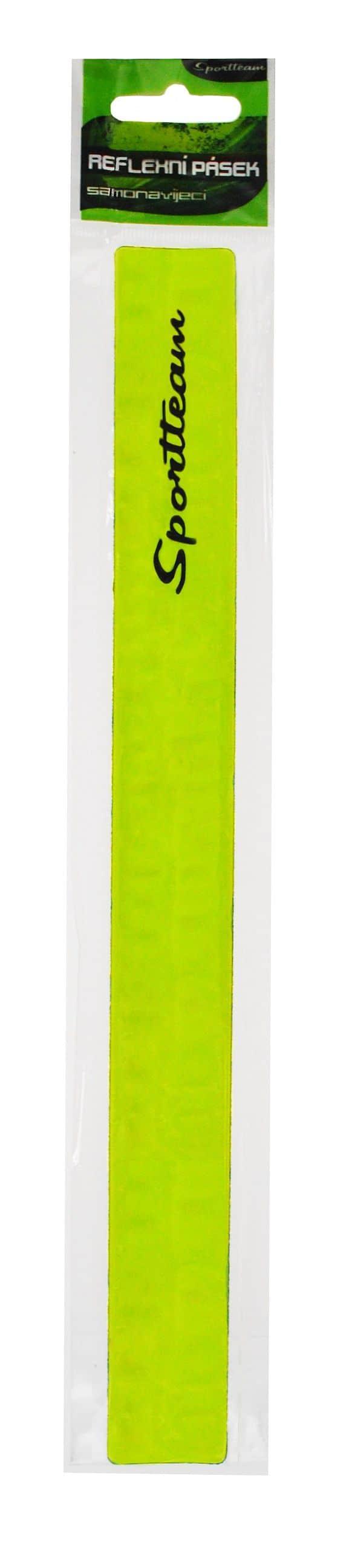 Reflexní pásek SPORTTEAM 3x30 cm, samonavíjecí