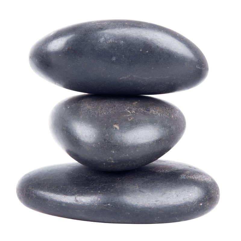 Lávové kameny inSPORTline River Stone 8-10 cm - 3 ks