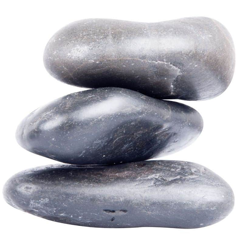 Lávové kameny inSPORTline River Stone 10-12 cm - 3 ks