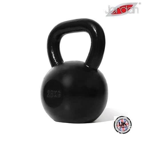 Kettlebell litinový JORDAN Fitness Cast iron 28 kg