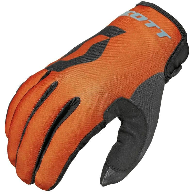 Motokrosové rukavice SCOTT 350 Track MXVI Barva modro-oranžová, Velikost M