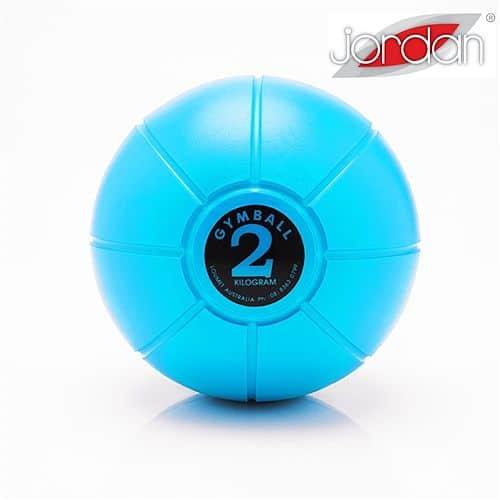 Gumový medicinball JORDAN LOUMET 2 kg světle modrý