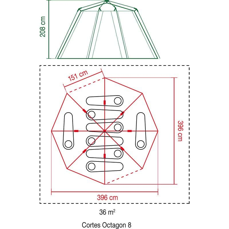Cortes Octagon 8 stan
