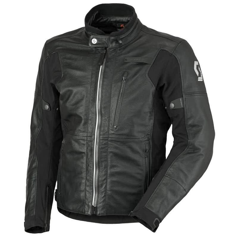 Kožená moto bunda SCOTT Tourance Leather DP Barva černá, Velikost L (50-52)