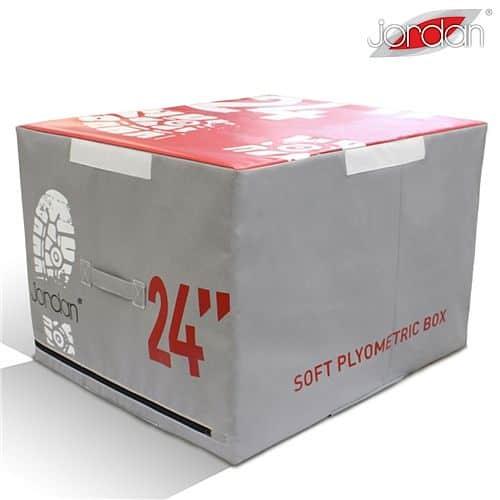 Plyometrická deska měkká Jordan Fitness 61 cm červená