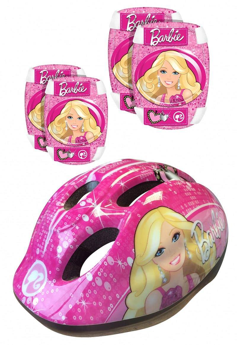 Set chráničů a helma Barbie