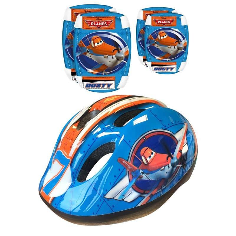 Sada Disney Planes - helma + chrániče loktů a kolen