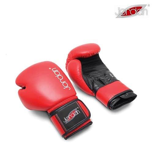 JORDAN FITNESS boxovací rukavice tréninkové - kožené červené