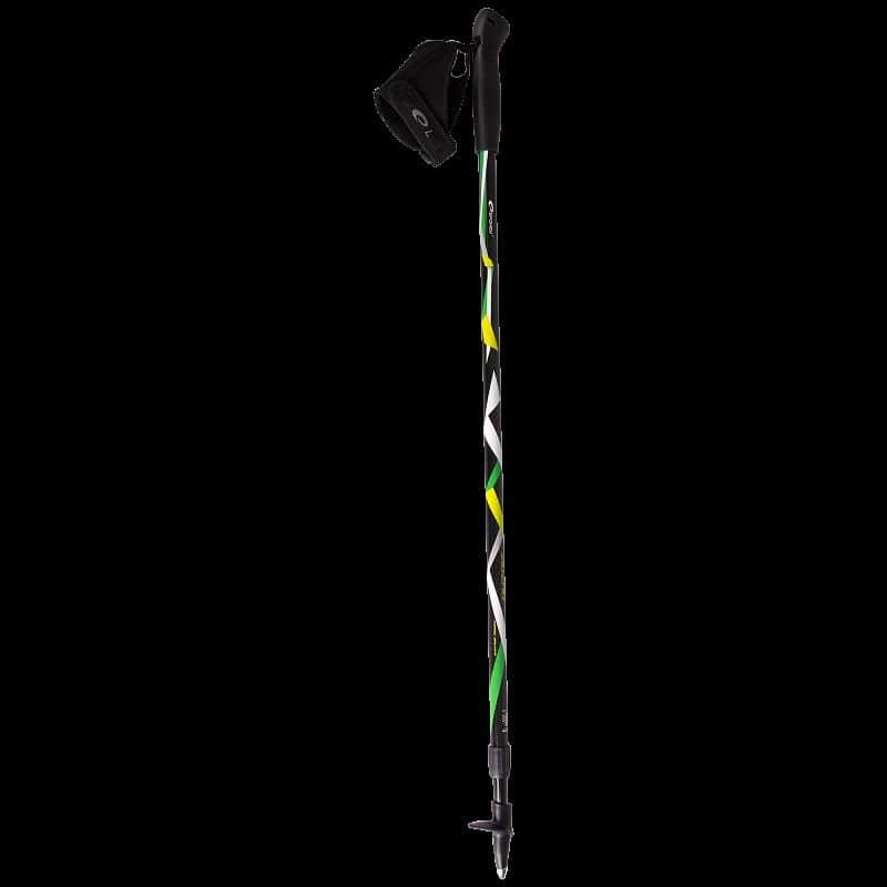 ZIGZAG Hole Nordic Walking 2-dílné teleskopické černo-barevné