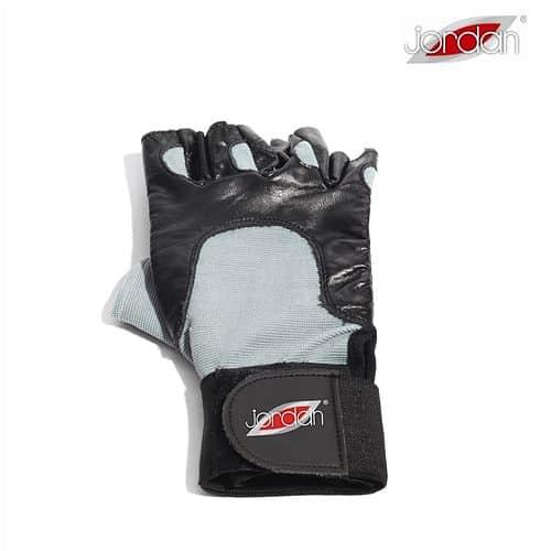 JORDAN Vzpěračské rukavice černá/šedá - dlouhé