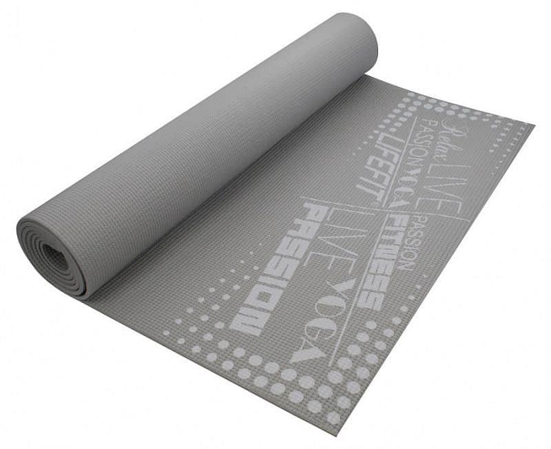 Gymnastická podložka LIFEFIT SLIMFIT, 173x61x0,4cm, světle šedá
