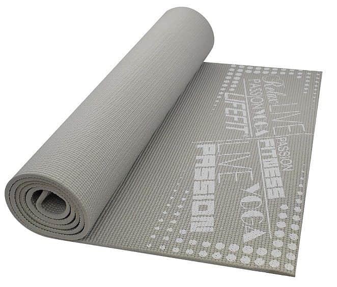 Gymnastická podložka LIFEFIT SLIMFIT PLUS, 173x61x0,6cm, světle šedá