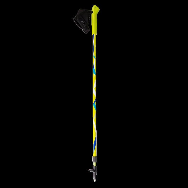 ZIGZAG Hole Nordic Walking 2-dílné teleskopické žluto-barevné