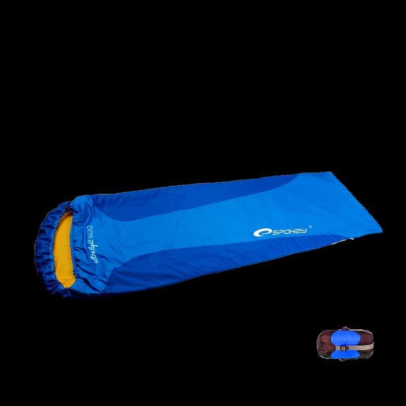 ULTRALIGHT 600 Spací pytel mumie modrý, pravé zapínání