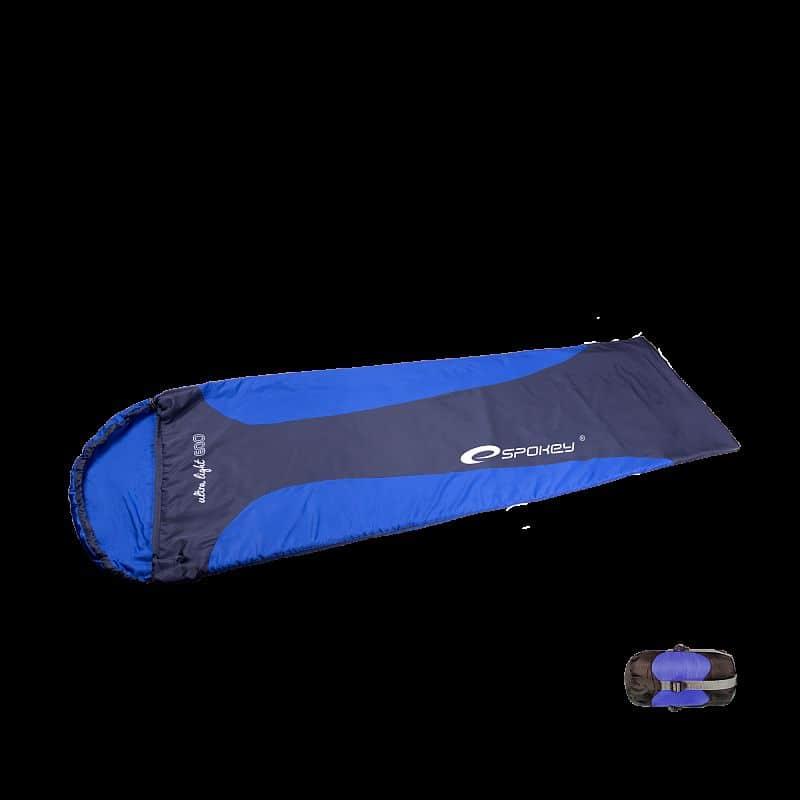 ULTRALIGHT 600 Spací pytel mumie modrý, levé zapínání