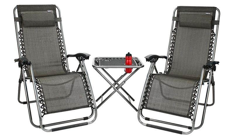 Campingový set 2 židle a stůl Luxury
